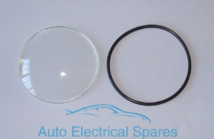 010160 DOMED Glass & Seal for Lucas BM4 ammeter